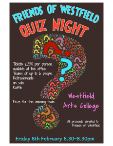 Friends of Westfield Quiz Night @ Westfield Arts College